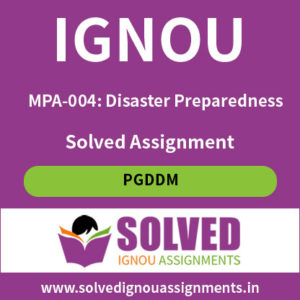 IGNOU MPA 4 Solved assignment