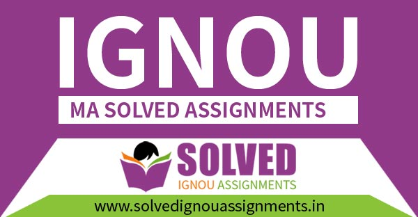 IGNOU MA Solved Assignment