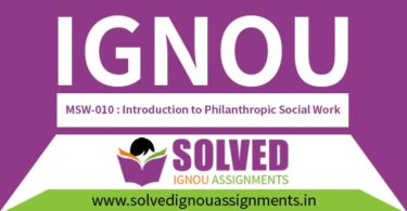 IGNOU MSW 10 Solved Assignment