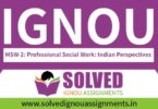 IGNOU MSW 2 Solved Assignment