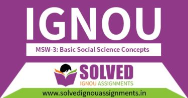 IGNOU MSW 3 Solved Assignment