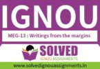 IGNOU MEG 13 Solved Assignment